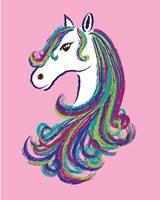 Horse - Pink Fine Art Print