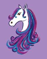 Horse - Purple Fine Art Print