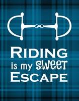 Riding is My Sweet Escape - Blue Fine Art Print