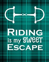Riding is My Sweet Escape - Green Fine Art Print