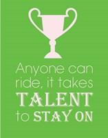 Anyone Can Ride - Green Fine Art Print