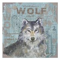 Where Does a Wolf Prowl Framed Print