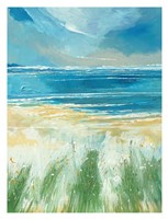 Summer Sea and Beach at Holkham Fine Art Print