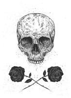 Skull N Roses Fine Art Print