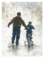 First Bike Ride Fine Art Print