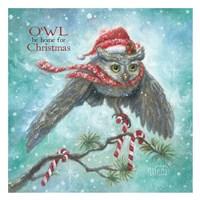 Owl Be Home for Christmas! Fine Art Print