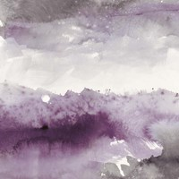 Midnight at the Lake II Amethyst and Grey Fine Art Print