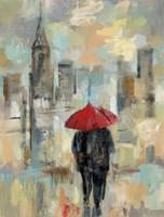 Rain in the City I Framed Print