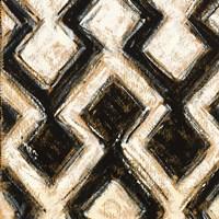 Black and Gold Geometric III Crop Framed Print