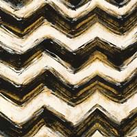 Black and Gold Geometric IV Crop Framed Print