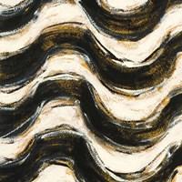 Black and Gold Geometric V Crop Framed Print