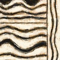 Black and Gold Geometric VI Framed Print