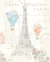 Lighthearted in Paris III Framed Print