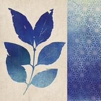 Indigo Leaves I Framed Print