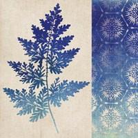 Indigo Leaves III Framed Print