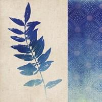 Indigo Leaves IV Framed Print