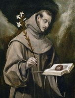 Saint Anthony of Padua, 1577-79 Fine Art Print