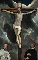 Crucifixion with Two Donors Fine Art Print
