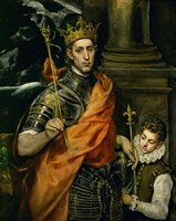 Saint Louis, King of France, and a Pageboy Fine Art Print