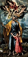 Saint Joseph and the Christ Child Fine Art Print