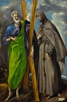 Saint Andrew and Saint Francis Fine Art Print