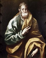 Apostle Saint Peter, 1602-05 Fine Art Print