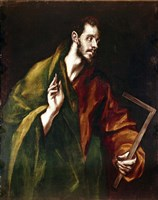 Apostle Saint Thomas, 1602-05 Fine Art Print