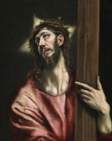 Christ with the Cross c. 1587-1596 Fine Art Print