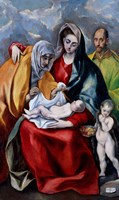 The Holy Family with Saint Anne, Saint Joseph and the child Saint John the Baptist Fine Art Print