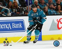 Joe Pavelski 2016 Stanley Cup Playoffs Action Fine Art Print