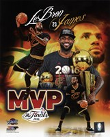 Lebron James 2016 NBA Finals MVP Portrait Plus Framed Print