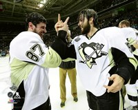 Sidney Crosby & Kris Letang Game 6 of the 2016 Stanley Cup Finals Fine Art Print