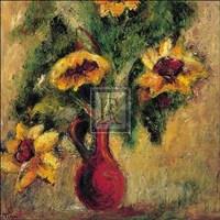 """Fleurs d'Automne I by Tina - 16"""" x 16"""", FulcrumGallery.com brand"""
