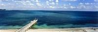 Beach Pier, Nassau, Bahamas Fine Art Print