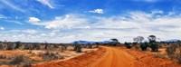 Dirt Road in Tsavo East National Park, Kenya Fine Art Print