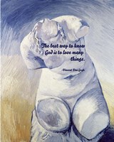 Know God - Van Gogh Quote 2 Fine Art Print