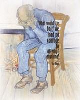 Courage - Van Gogh Quote 2 Fine Art Print