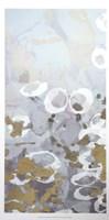 Golden Dropplets I - Metallic Foil Framed Print