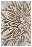 Barnwood Bloom I - Metallic Foil Fine Art Print