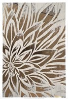 Barnwood Bloom II - Metallic Foil Fine Art Print