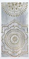 Indigo Mandala II - Metallic Foil Fine Art Print