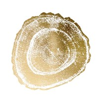 Gold Foil Tree Ring III - Metallic Foil Fine Art Print