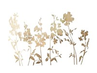 Gold Foil Flower Field - Metallic Foil Fine Art Print