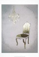 Gilded Furniture I - Metallic Foil Framed Print