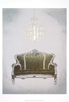 Gilded Furniture III - Metallic Foil Framed Print