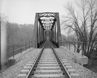 VIEW NORTHEAST OF WEST END OF BRIDGE. - Joshua Falls Bridge, Spanning James River at CSX Railroad Fine Art Print