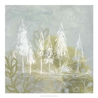 Treeline Collage I Framed Print