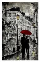 Rainy Promenade Fine Art Print