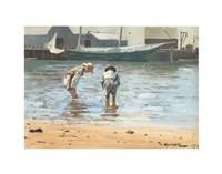 Boys Wading, 1873 Fine Art Print