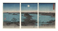 Kanazawa in Moonlight, 7th month, 1857 Fine Art Print